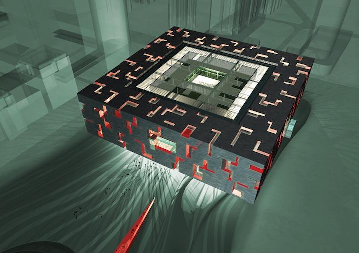kamar-asik.blogspot.com - Museum Di China Berbentuk Seperti Rubiks