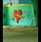 melting-fans-painted-heart-because-Im-too-cheap-for-roses-at-New-Orleans-abandoned-six-flags