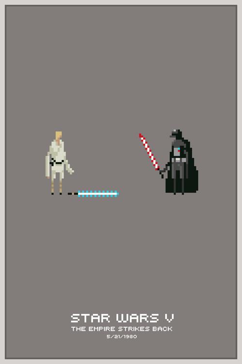 STAR WARS pixel art Poster