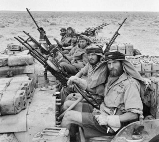British SAS kembali dari patroli, Afrika Utara, 18 Januari 1943