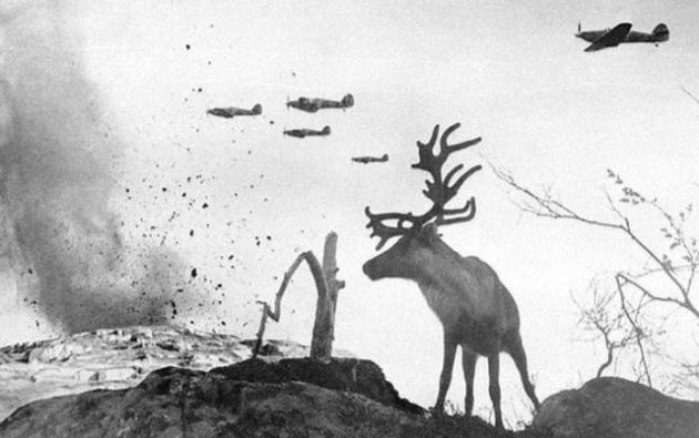 perang Dunia ke II ,by Yevgeny Khaldei, Mourmansk, Russia, 1941